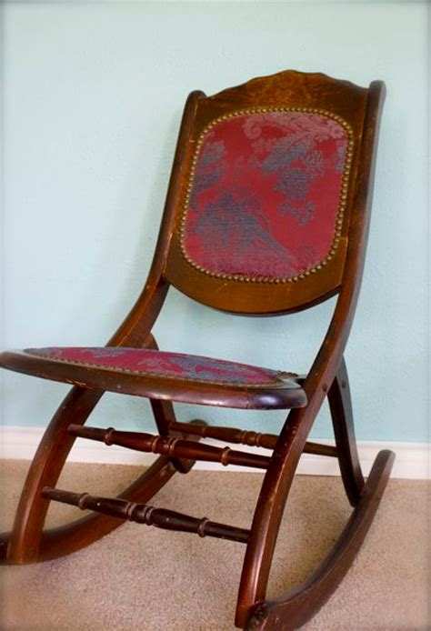 antique folding rocking chair sewing chair