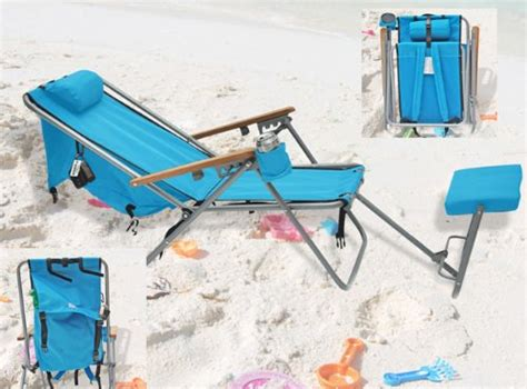 174 wearever deluxe backpack lounger chair with large storage pocket colors sc aruba blue