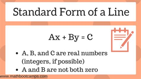 Standard Form Of A Line (with Examples) Mathbootcamps