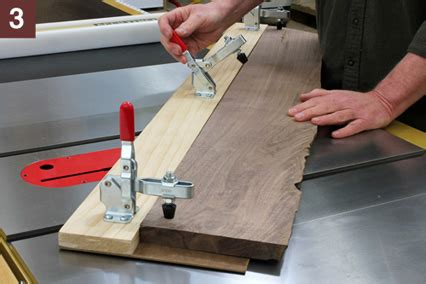 How To Cut Rough Edge Board  Table Saw  Slab Cutting