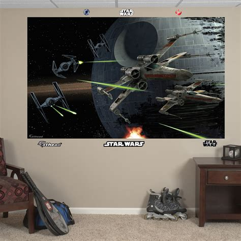 wars space battle mural realbig wall decal