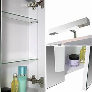 Spiegelschrank Weiß Holz : eurosan spiegelschrank superflach halogenaufsatzleuchte wei berlin holz ~ Markanthonyermac.com Haus und Dekorationen
