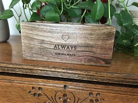 Close To Home Decor Box Personalization Ideas : The Close To Home Caddy! This Wooden Decor Box Has 3