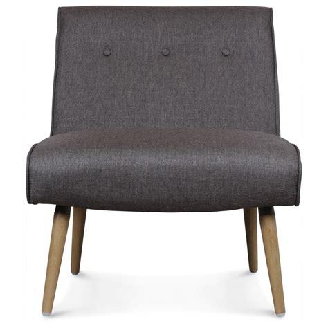 fauteuil design scandinave tissu gris pieds bois igor demeure et jardin
