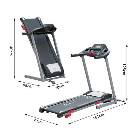 homcom tapis de course 201 lectrique tapis roulant pliable inclinable 12 programmes mp3 1 14km h 1