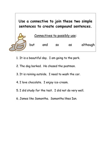 joining simple sentences using connectives by smudge78